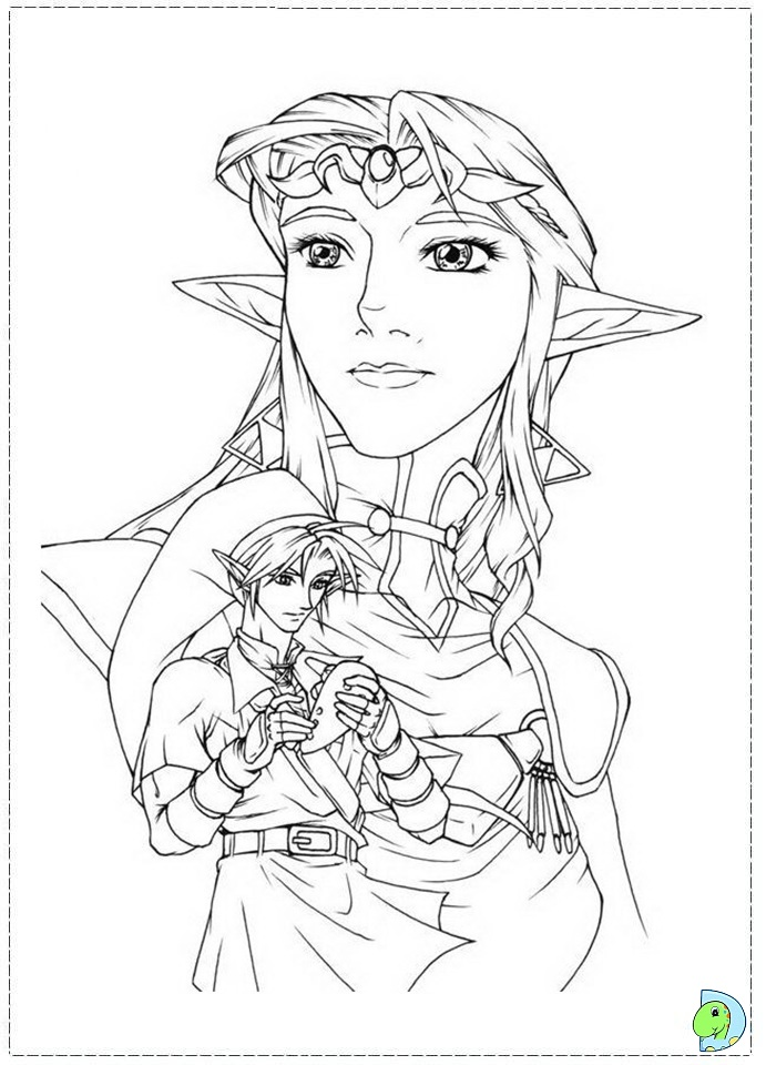 free zelda online coloring pages - photo#36