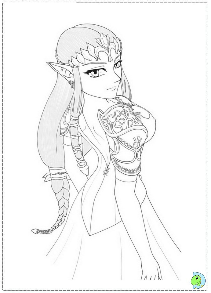 the legend of zelda coloring page dinokidsorg