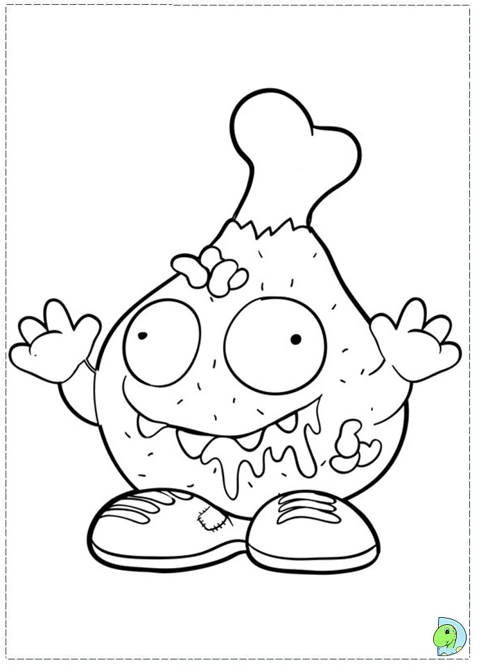 How to draw free trash pack colouring pages for Make doodle online