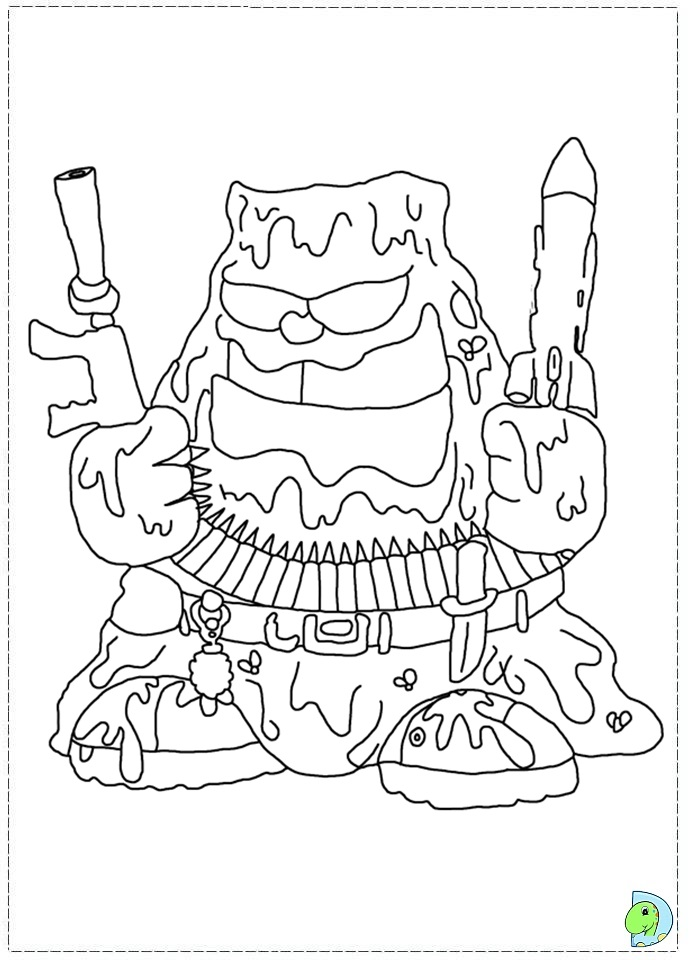 coloring pages trash packs - photo#29