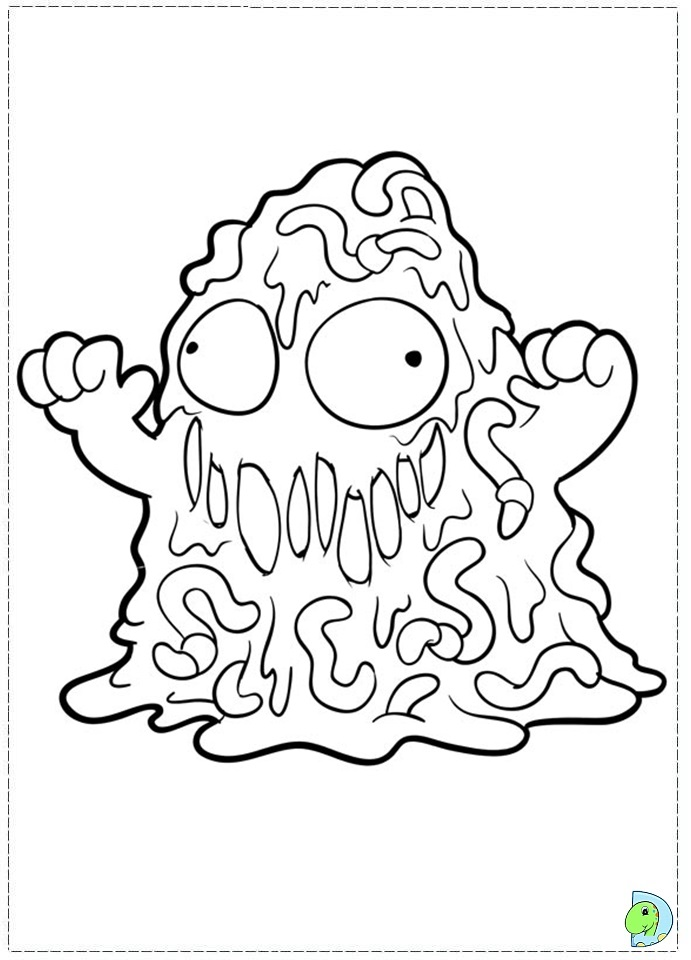 coloring pages trash packs - photo#22