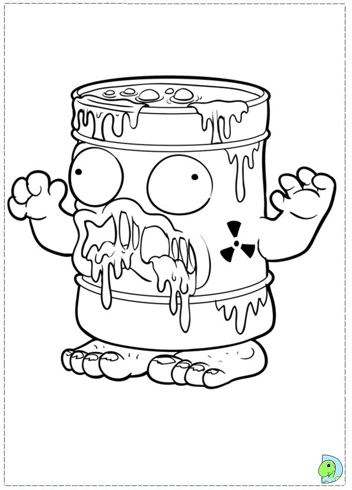 coloring pages trash packs - photo#26
