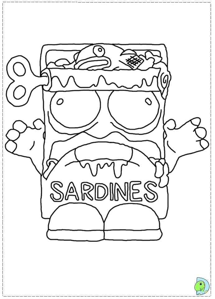 coloring pages trash packs - photo#36