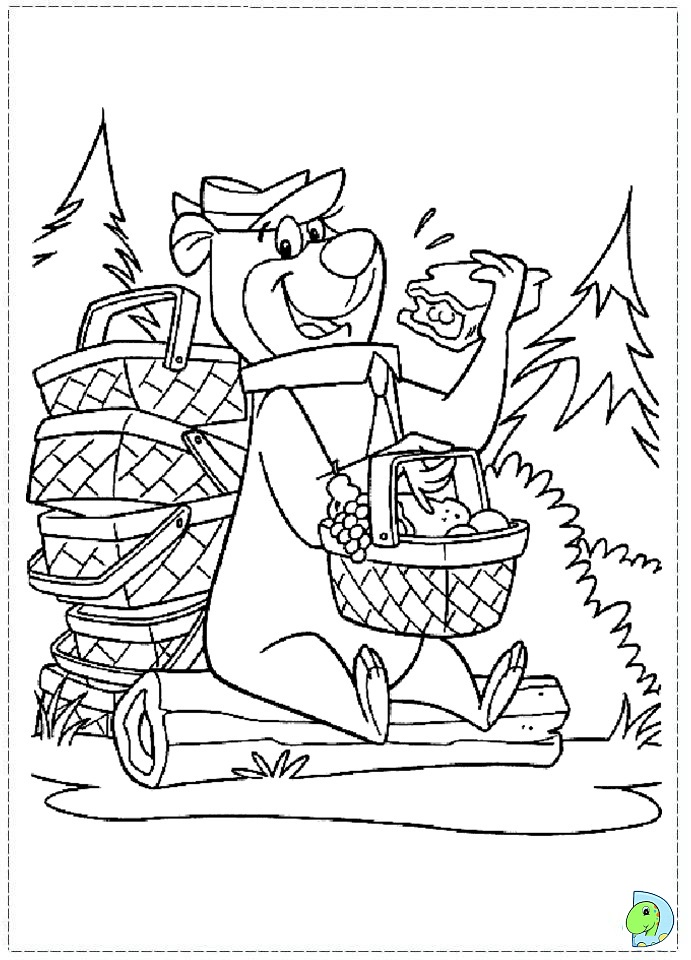 yogi coloring pages - photo#42