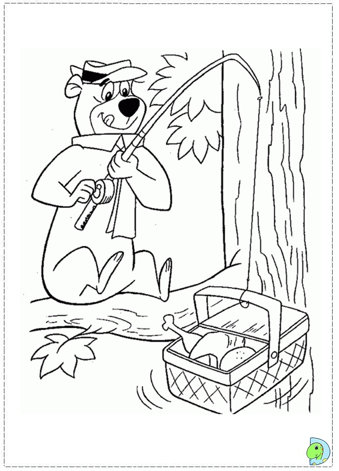 yogi coloring pages - photo#36
