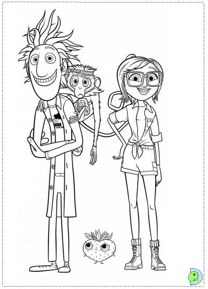 Cloudy With Meatballs Coloring Page