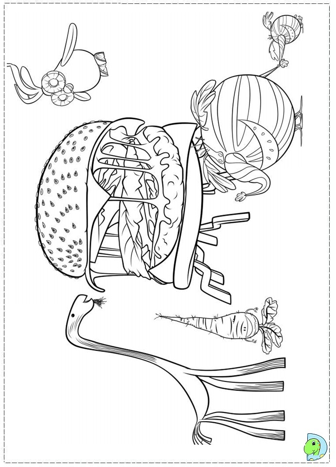 Cloudy with a chance of meatballs 2 coloring page ...