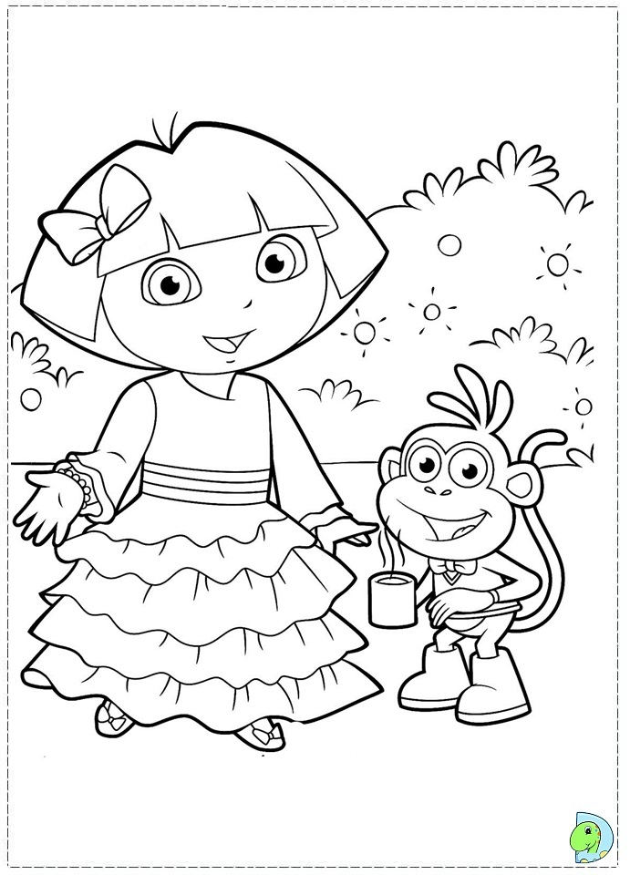 Dora Coloring In Pages To Print Dora Coloring Book Pdf Coloring Pages ...