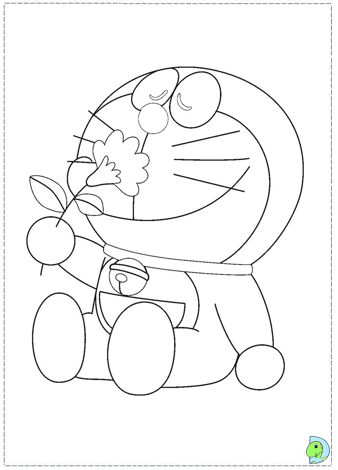 Doraemon Fishing Coloring Page Coloring Coloring Pages