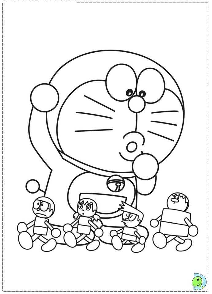 Doraemon Coloring Page Dinokids Org A Coloring Picture
