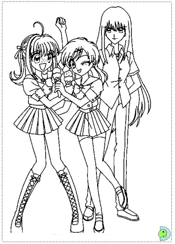 chibi melody coloring pages - photo#7