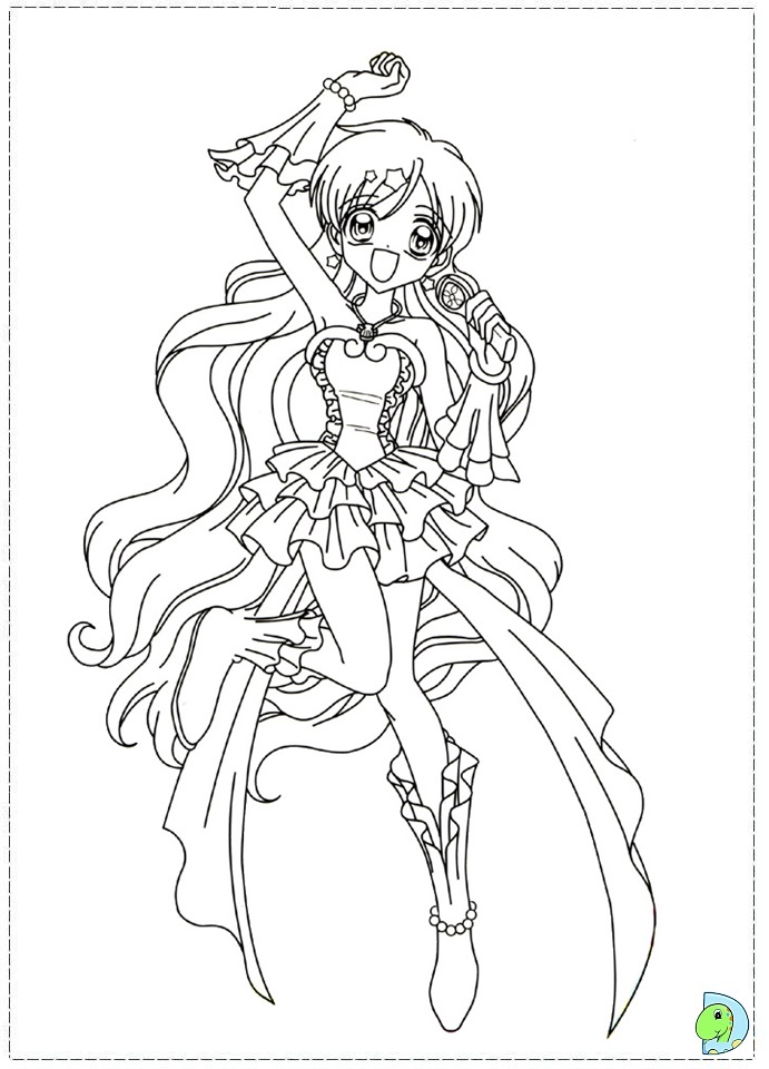 Mermaid Melody Coloring Page Dinokids Org Mermaid Melody Coloring Pages