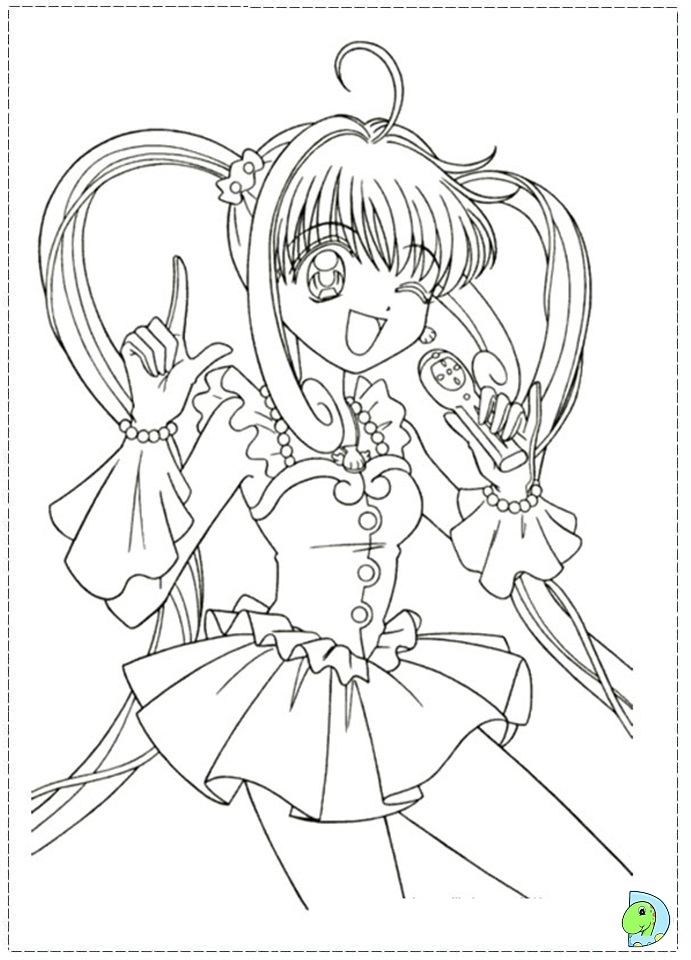 mermaid melody coloring book pages - photo#19