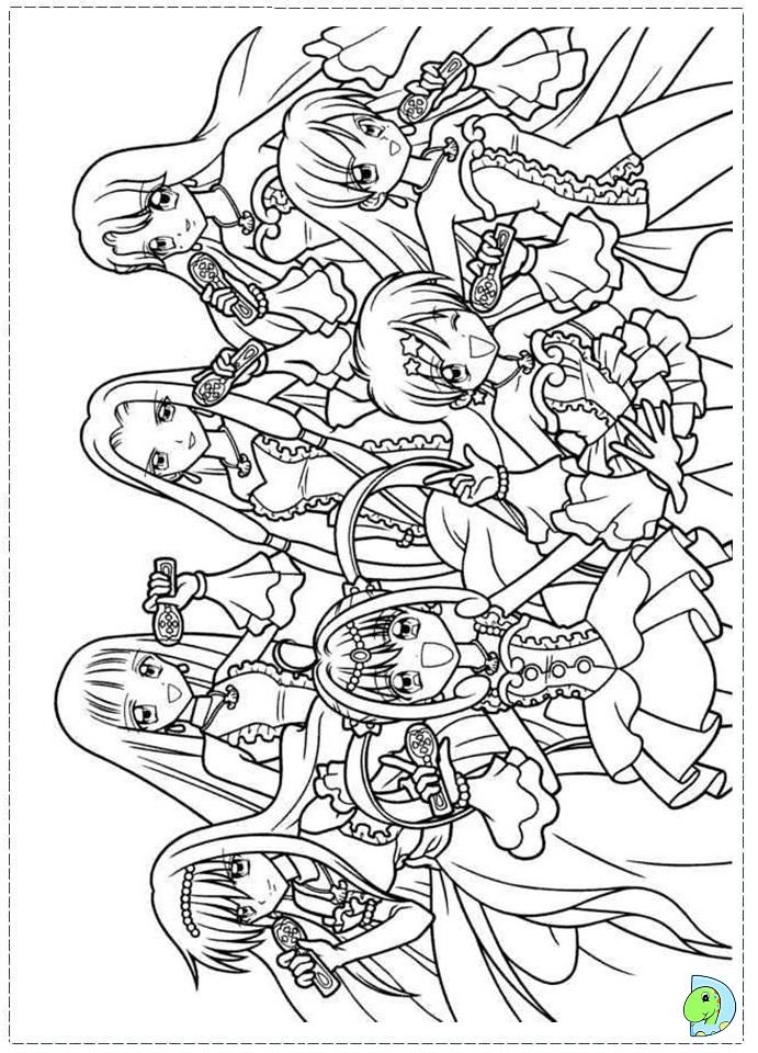 Mermaid Melody coloring page DinoKids
