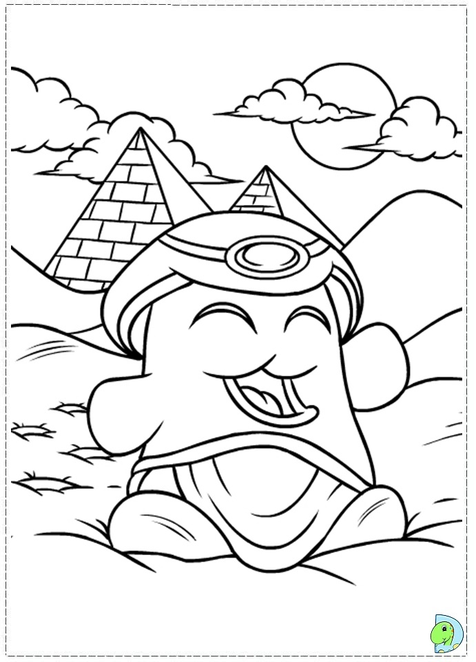 Neopets And The Lost Desert Coloring Page Dinokids Org