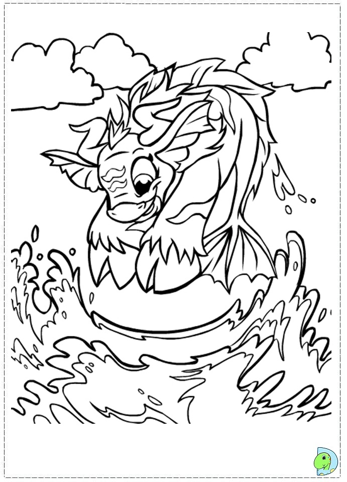 Neopets Maraqua Coloring Page- DinoKids.org