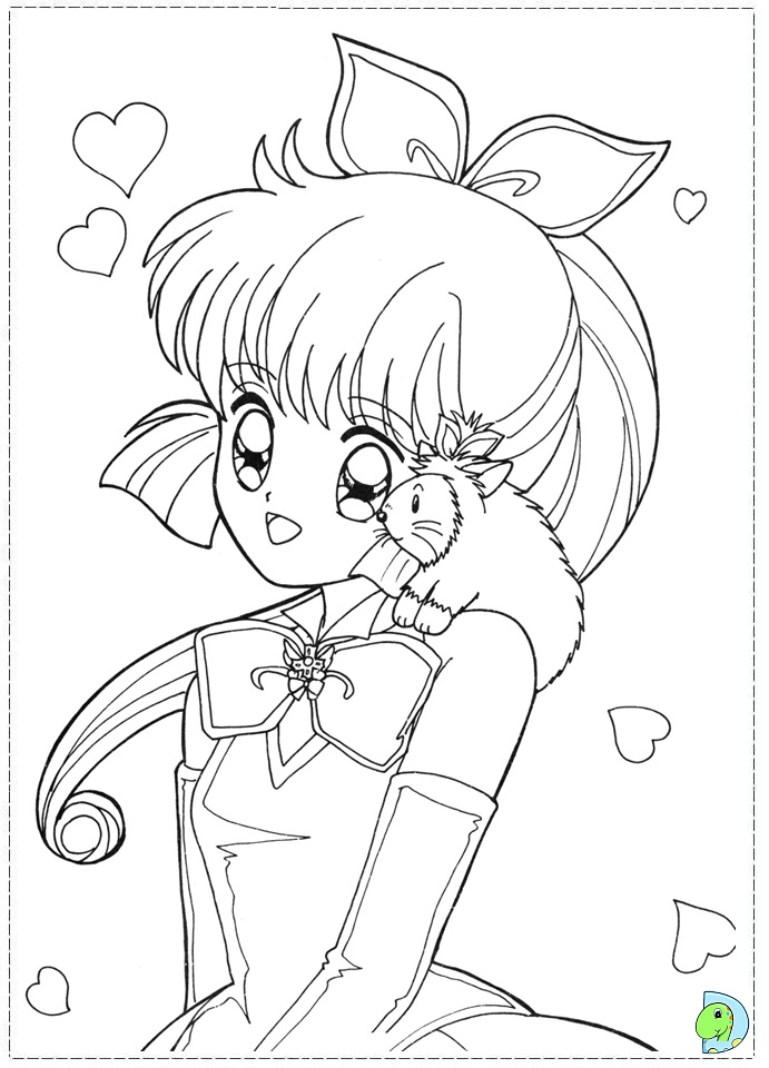 cat girl anime coloring pages - photo#6