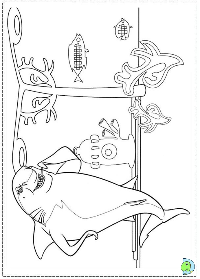 Shark tale pages coloring pages for Shark tale coloring pages