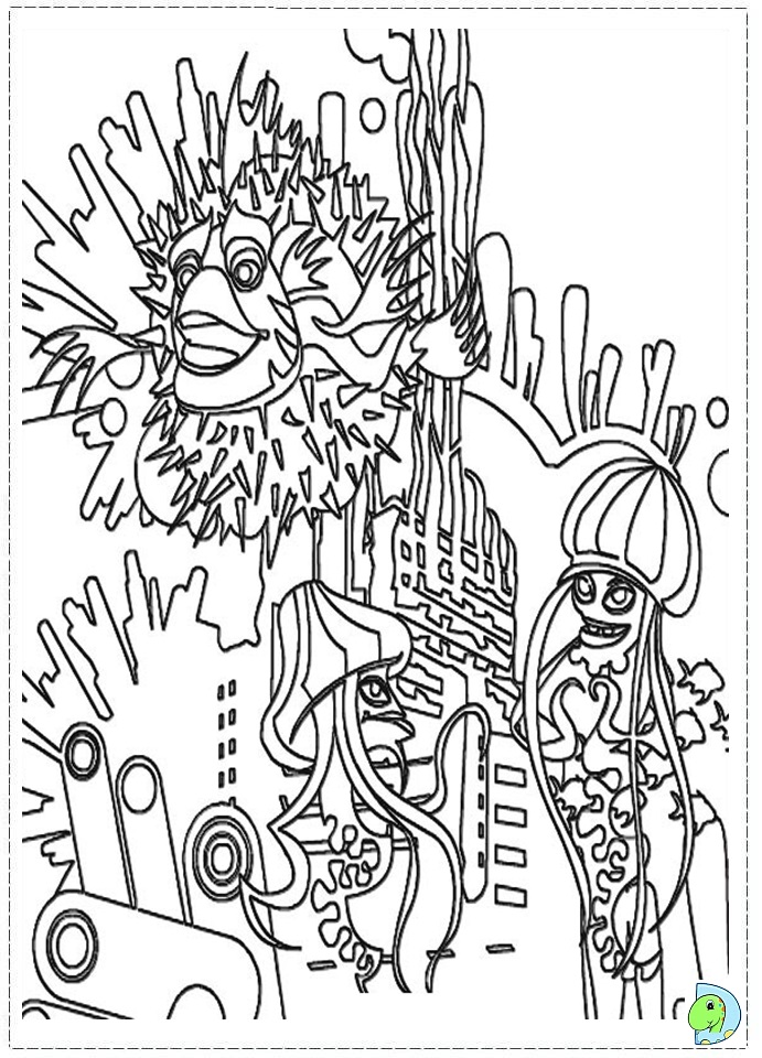 shark tale coloring book pages - photo#24