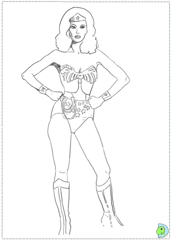 wonder woman coloring pages - photo#36