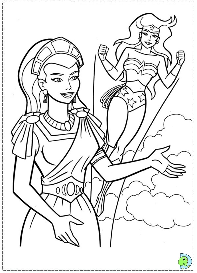 Wonder woman coloring page for Color wonder coloring pages