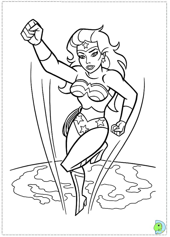 Wonder Woman Lego Coloring Pages