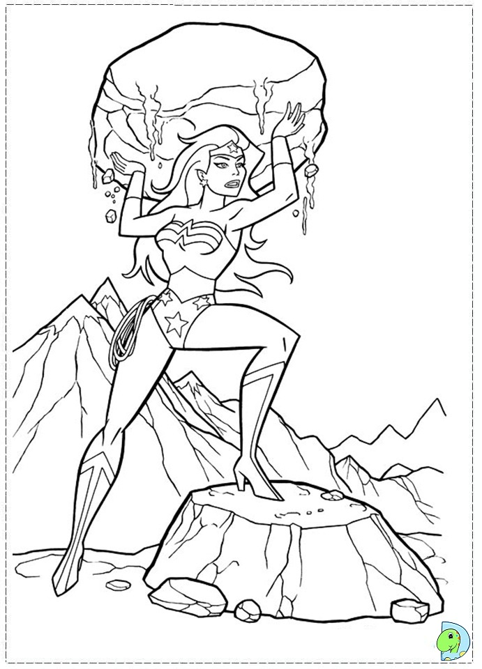 Coloring page woman from 1930 coloring pages for Wonder woman coloring pages