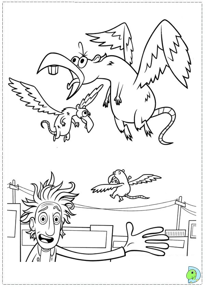 Cloudy With A Chance Of Meatballs Coloring Page DinoKidsorg