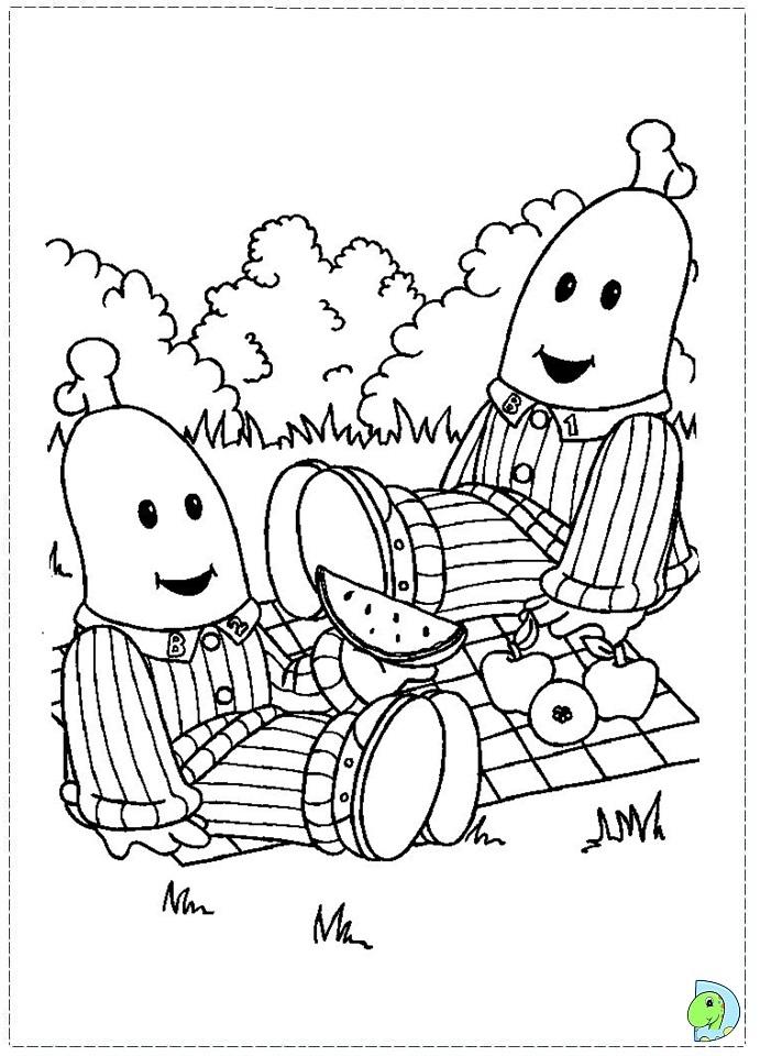 coloring pages bananas in pajamas - photo#9