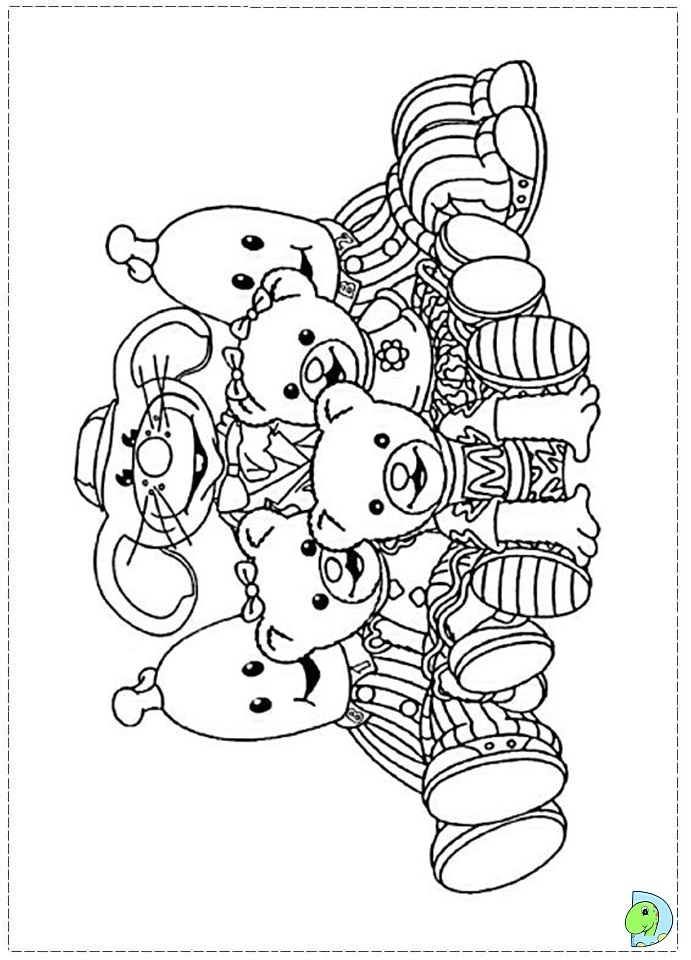 Bananas In Pyjamas Coloring Page Dinokids Org Colouring In Pages