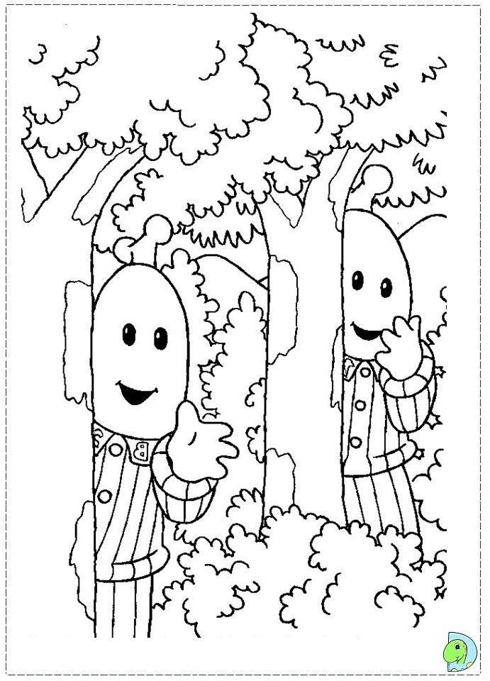 coloring pages bananas in pajamas - photo#33
