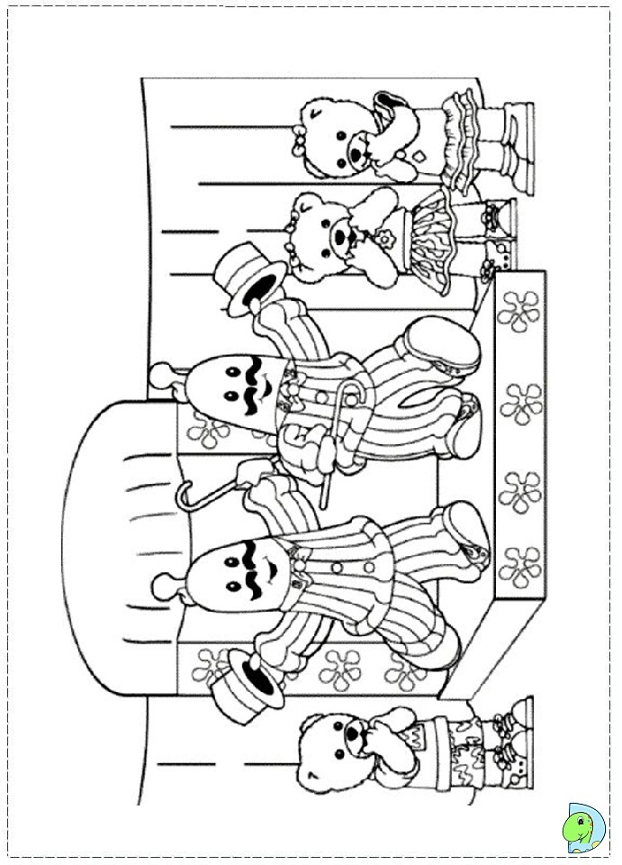 coloring pages bananas in pajamas - photo#16