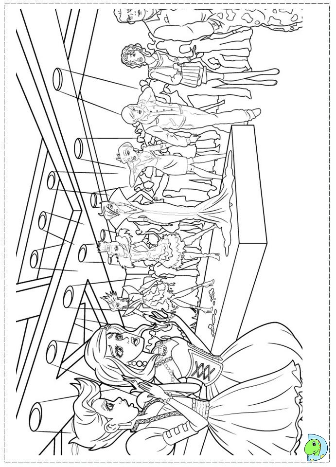 Barbie Fashion Fairytale Coloring pages for kids DinoKids