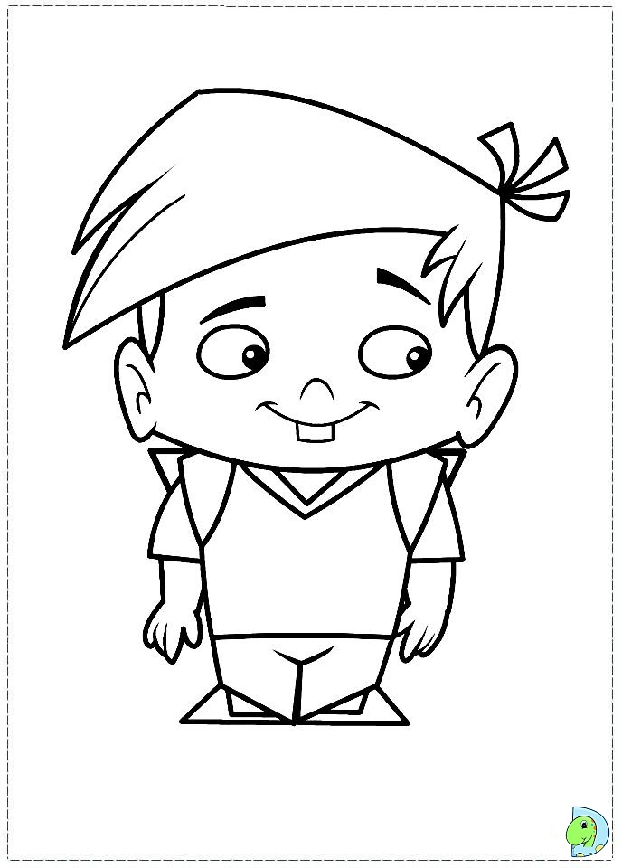 Captain Flamingo Coloring page- DinoKids.org