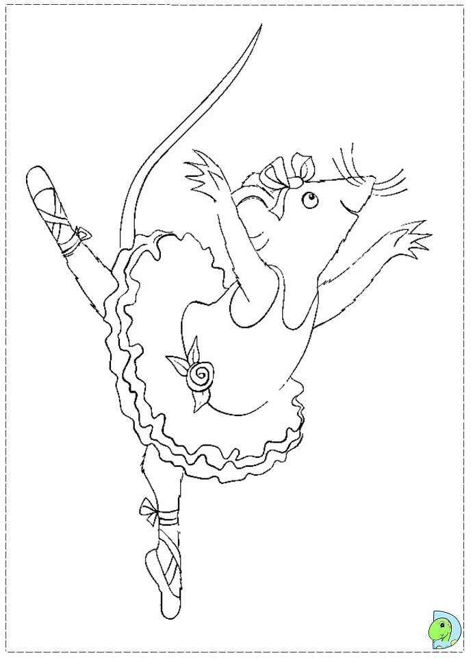 Outline Ballerina Coloring Pages