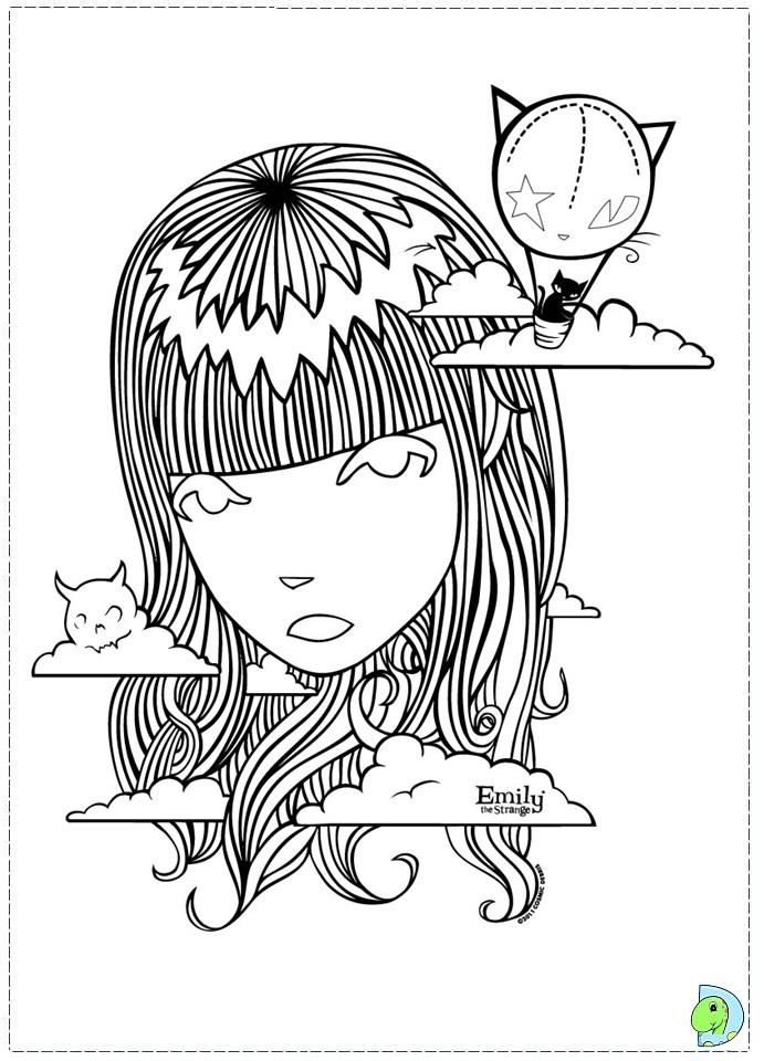 weird coloring pages - photo#24