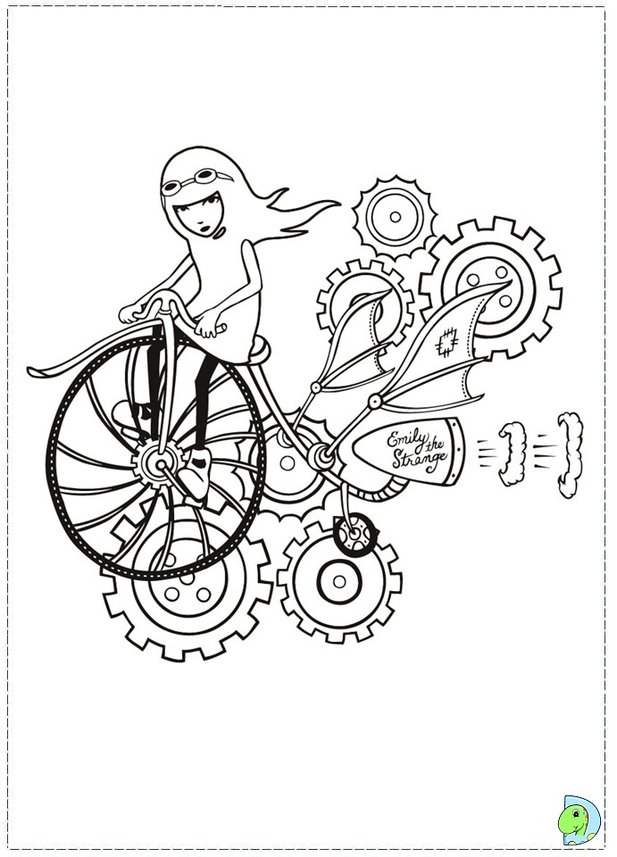 emily strange coloring pages - photo#16