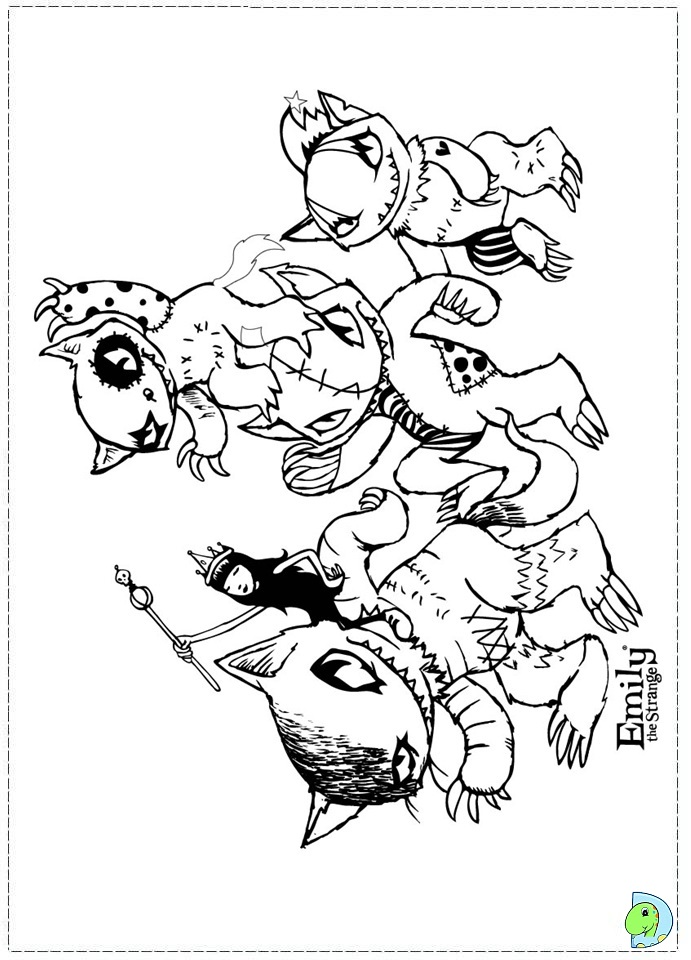weird coloring pages - photo#11