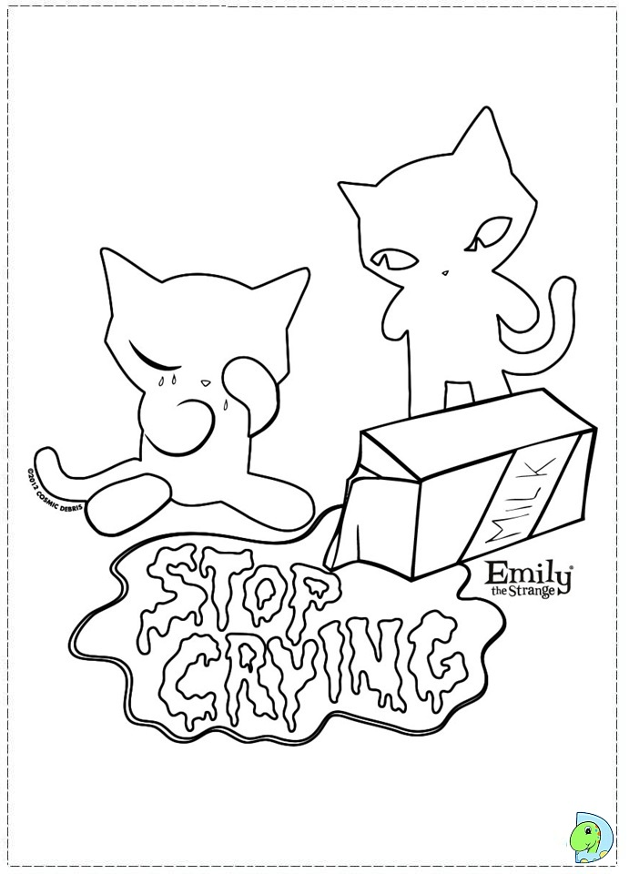 emily strange coloring pages - photo#14