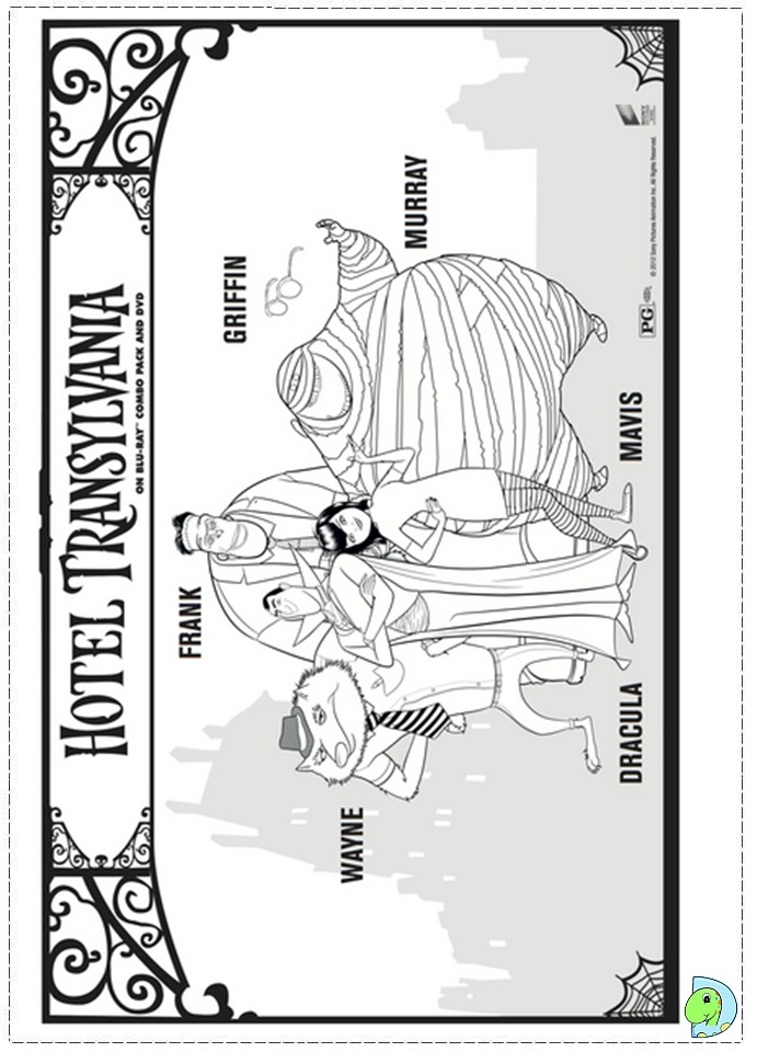 print hotel transylvania coloring pages - photo#34