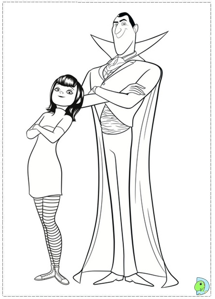 print hotel transylvania coloring pages - photo#1