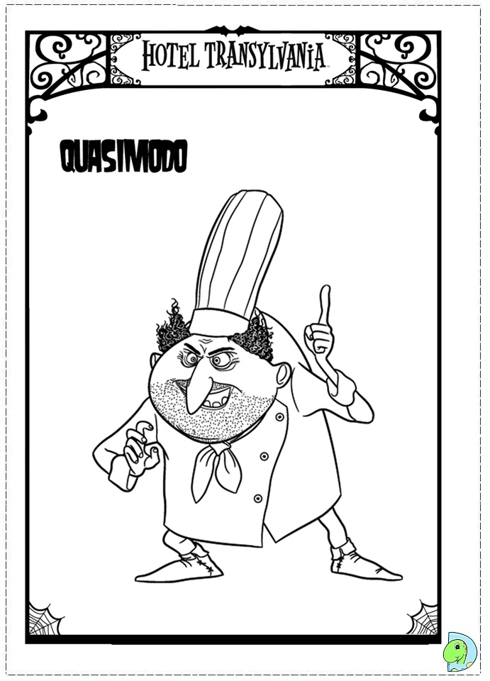 print hotel transylvania coloring pages - photo#19