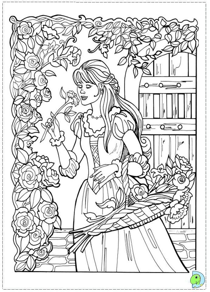 Princess Leonora Coloring page - DinoKids.org