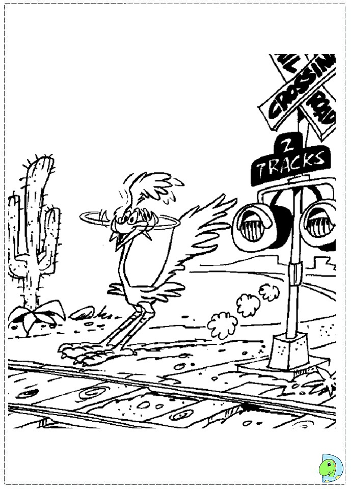Road Runner Coloring page DinoKidsorg
