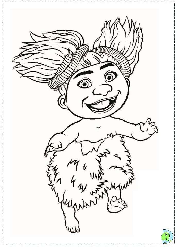 Colouring page for The croods coloring pages