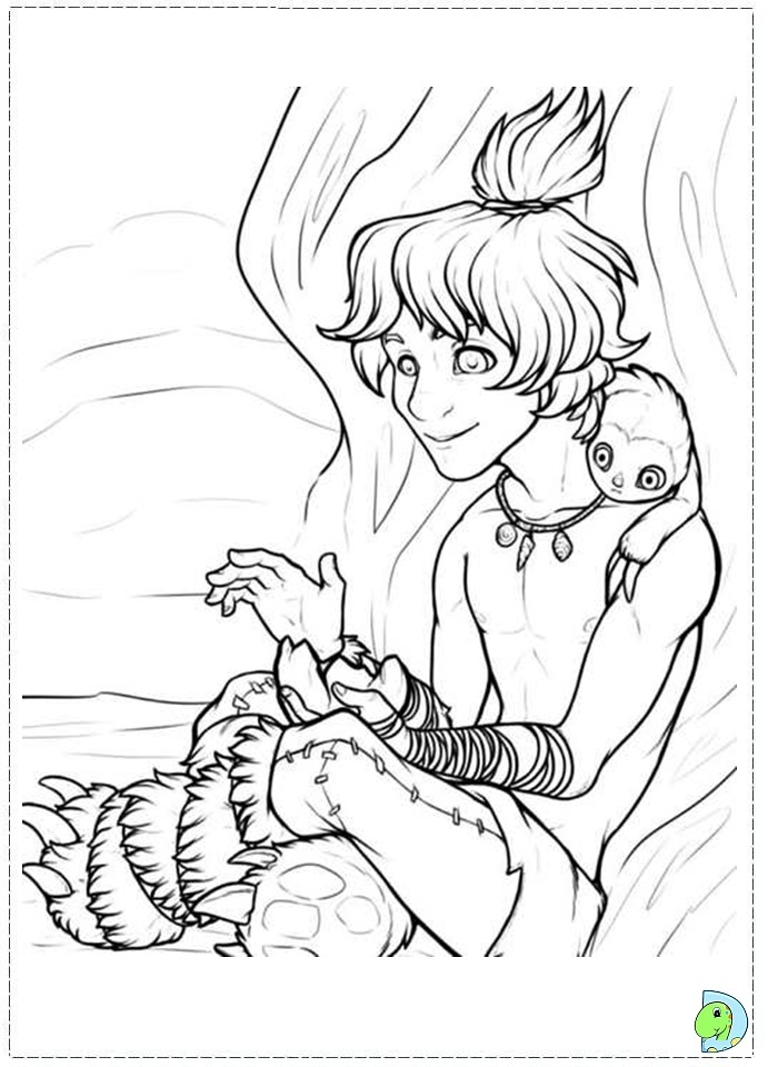 Free Coloring Pages The Croods Coloring Pages