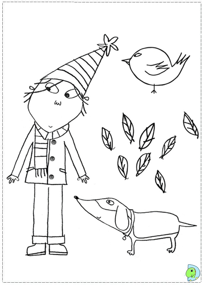 Charlie And Lola Coloring Page Dinokids Org And Lola Colouring Pages