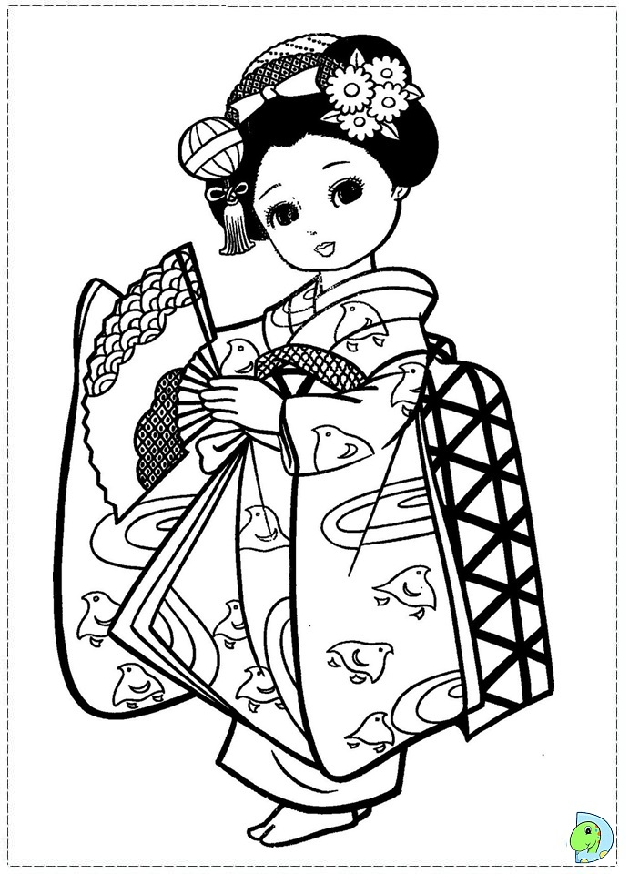 free coloring pages japanese girls - photo#5