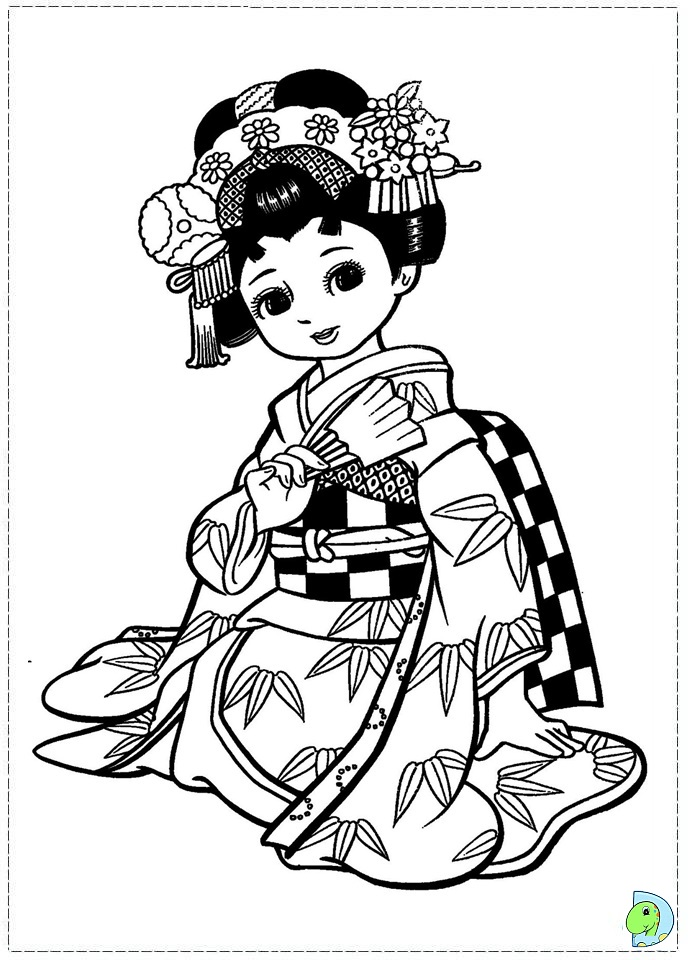 free coloring pages japanese girls - photo#13