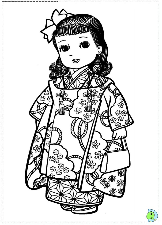 free coloring pages japanese girls - photo#23